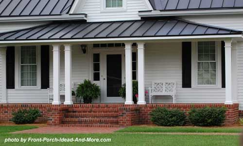 Winston Salem NC | Front porches, Metal roof and Porch