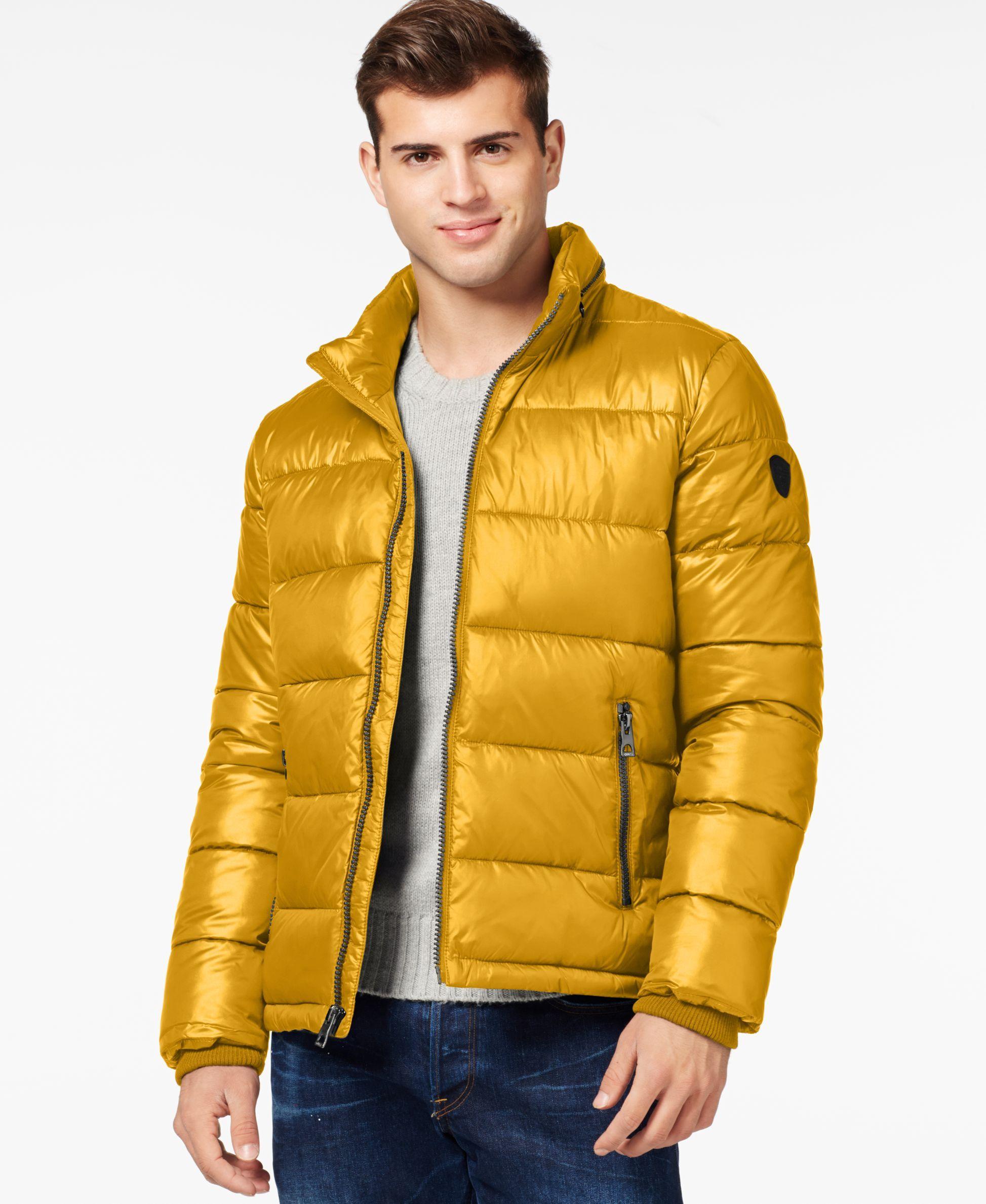 Guess Basic Puffer Jacket Winter jacket men, Winter