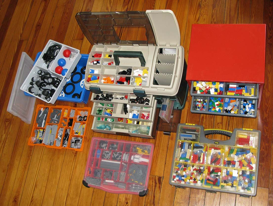 This Is A Person With Great With Some Fantastic Lego Storage Ideas Lot S Of Different Boxes To