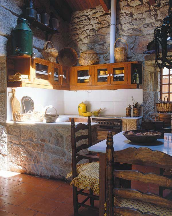 Cocinas de aire campestre bodega pinterest for Cocinas campestres pequenas