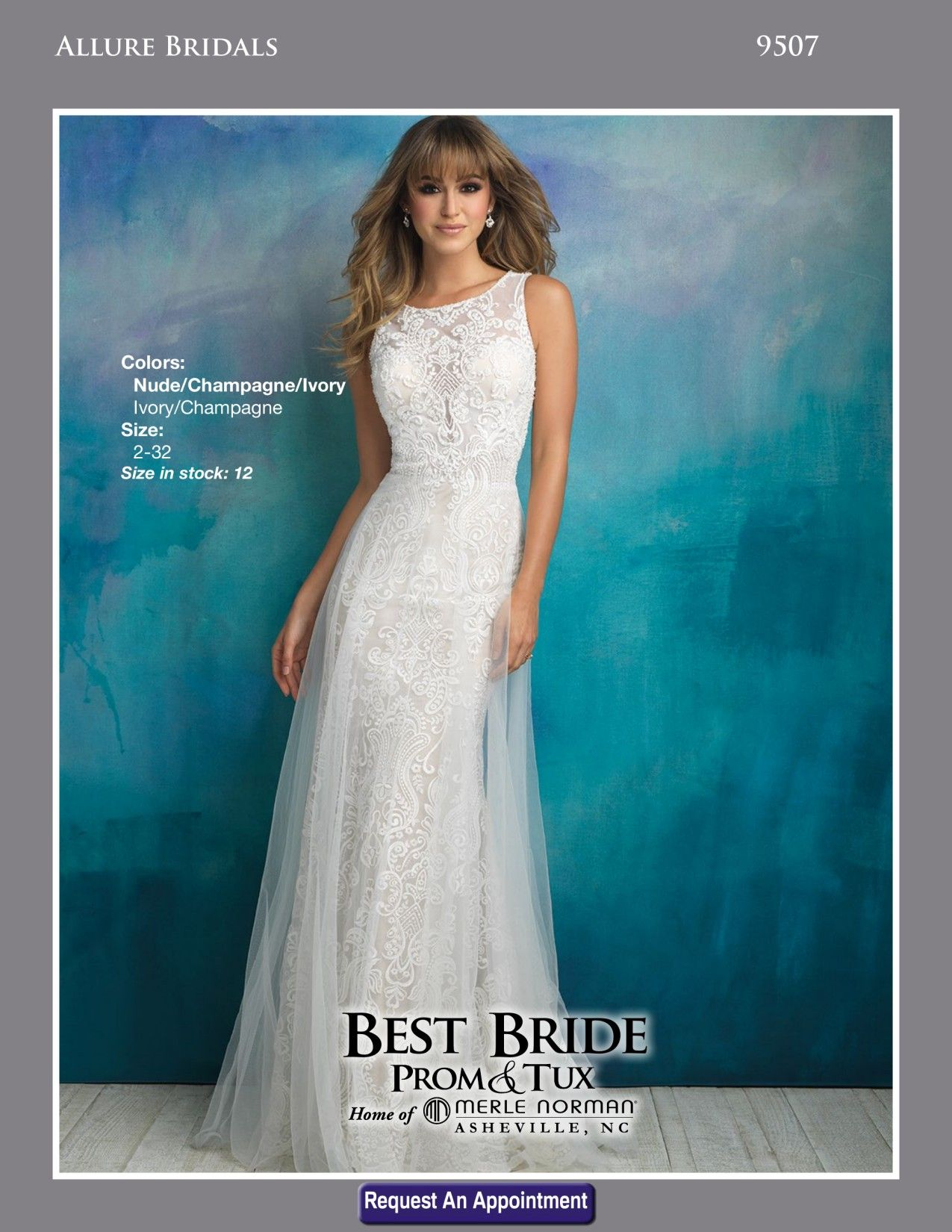 810ad90b203 Pin by Best Bride Prom   Tux on Allure Bridals in 2019