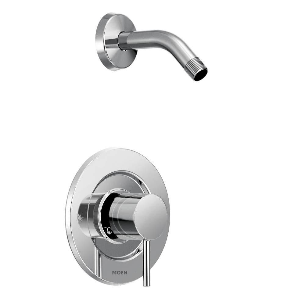 Moen Align Single Handle Posi Temp Shower Faucet Trim Kit In Chrome Showerhead And Valve Not Included Chrome Showerhead Shower Faucet Tub And Shower Faucets
