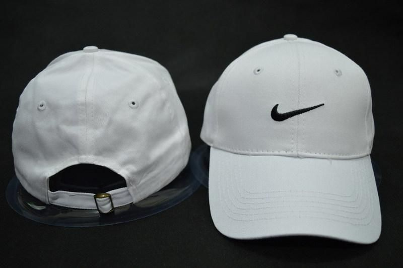 9b8ed53473f Mens Nike Stock Basic Stock Logo Embroidery Heritage Dri-Fit Sports Retro  Golf Hat Adjustable Strapback Cap - White