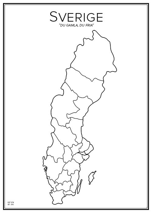 Redigerbar Karta Sverige.Sverige So Pinterest Montessori Skola Och Klassrum