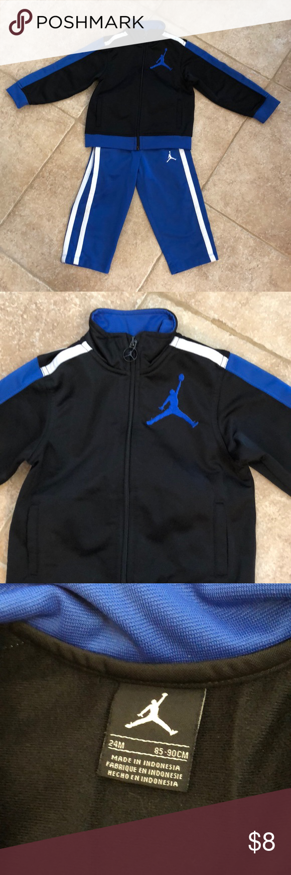 86dc6ee2f19aaa Outfit Black and Blue MJ outfit. Excellent condition. Tag is cut out of  pants