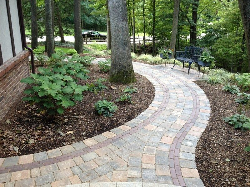 Brick Paver Walkway Curved Paver Walkway Walkway And Path Miller Landscape Pathway Landscaping Walkway Landscaping Garden Pathway