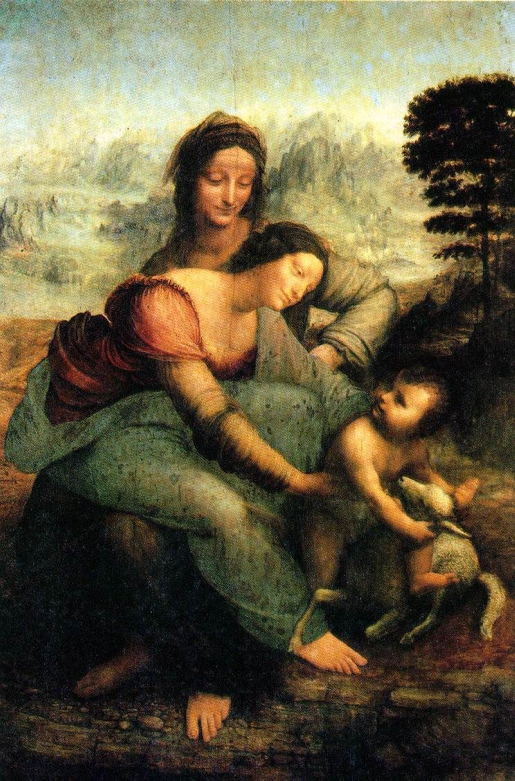 Cuadros Renacentistas Leonardo Da Vinci Virgin And Child With Saint Anne Obras Para