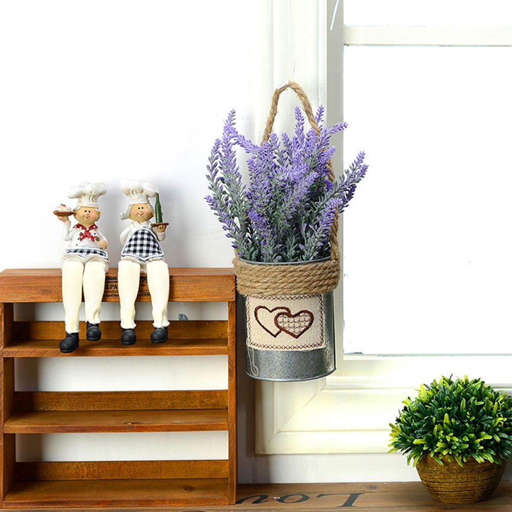 Artificial flowers lavender bonsai pastoral village style fake
