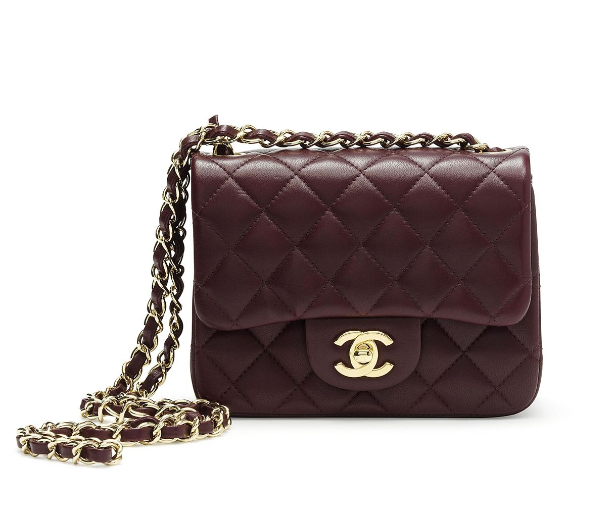A Burgundy Leather Classic Single Flap Bag Chanel 2017 13