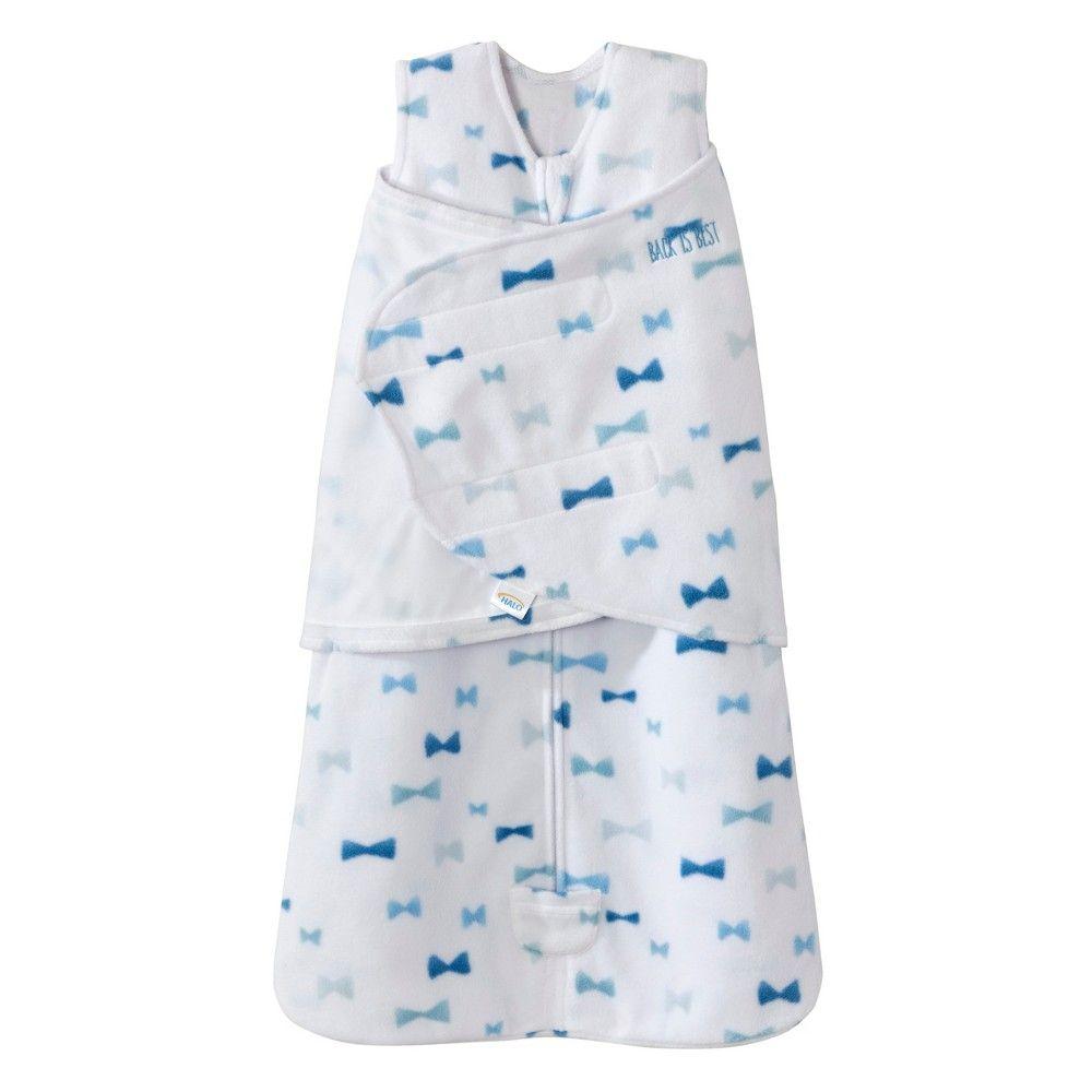 Halo Sleepsack Swaddle Micro Fleece Bowties Blue Nb