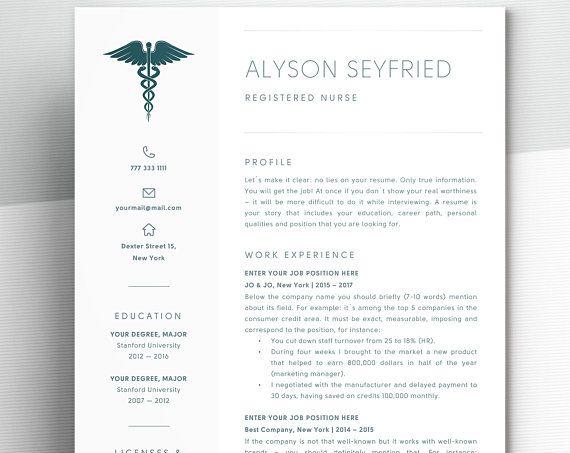 How To Make A Nursing Resume Adorable Nursing Resume Template For Word  Registered Nurse Resume Template .