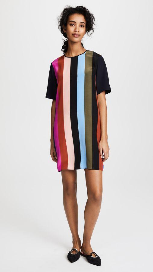 7f8581c8fa3 Diane von Furstenberg Short Sleeve Mini Fluid Dress
