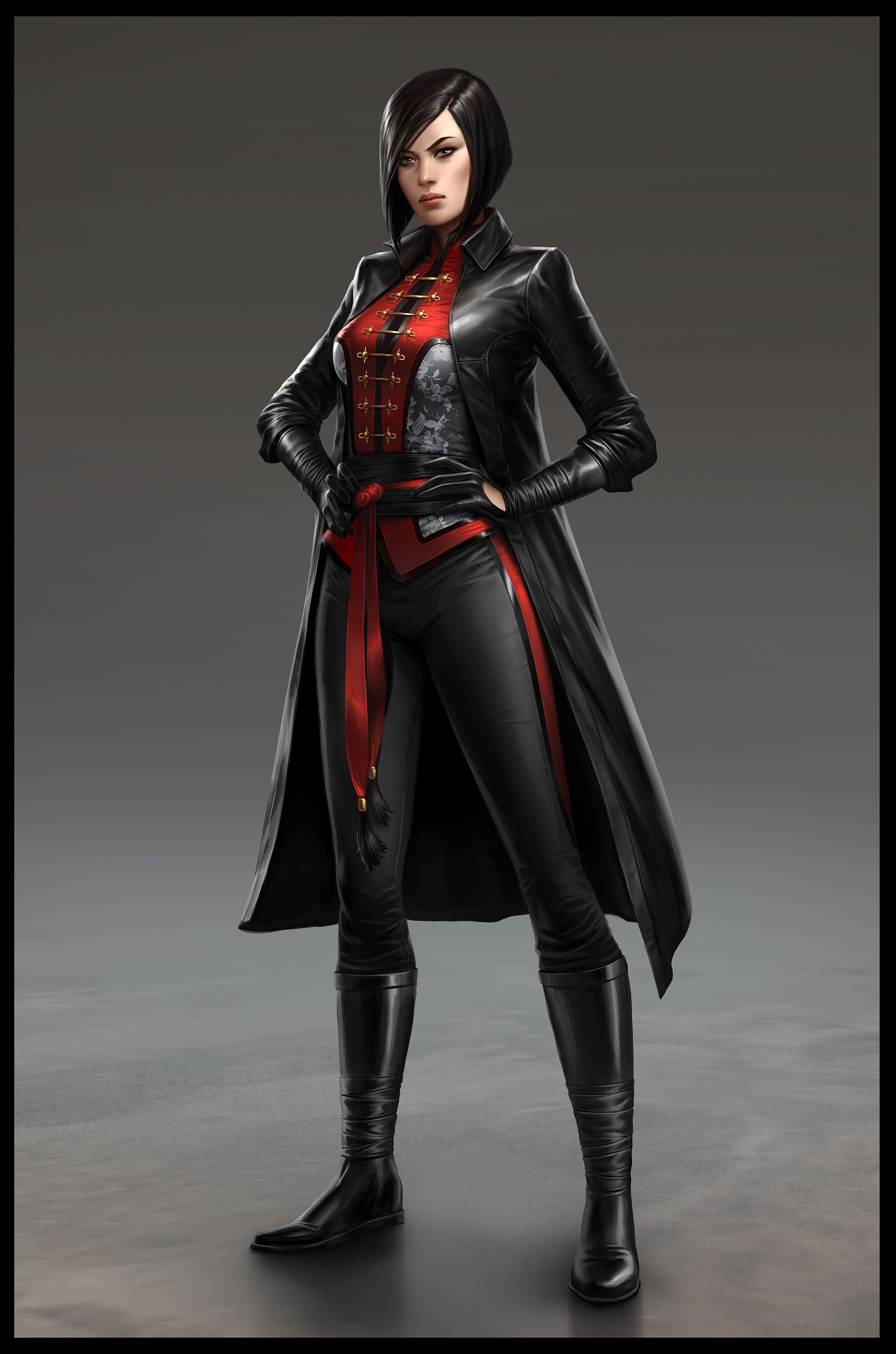 Batman: Arkham Origins Exclusive High-Resolution Lady Shiva Concept Art