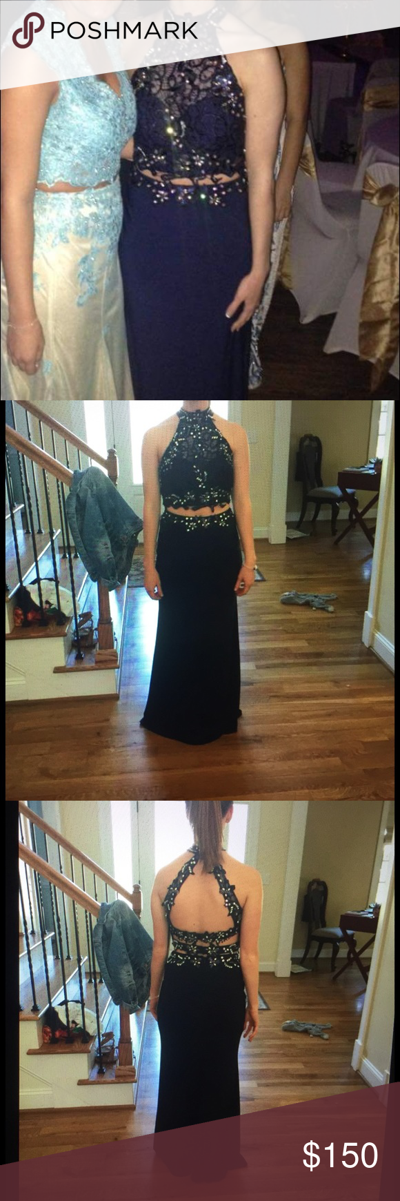 Navy twopiece prom dress prom paris dresses and navy