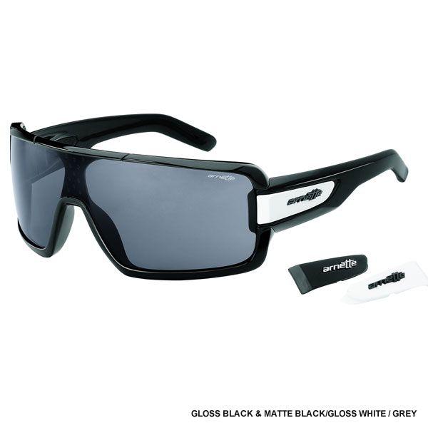 da14e0ad8a848 Arnette Cold One Sunglasses - Gloss Black   Matte Black Gloss White   Grey  Lens AN4173-01 - Extreme Supply