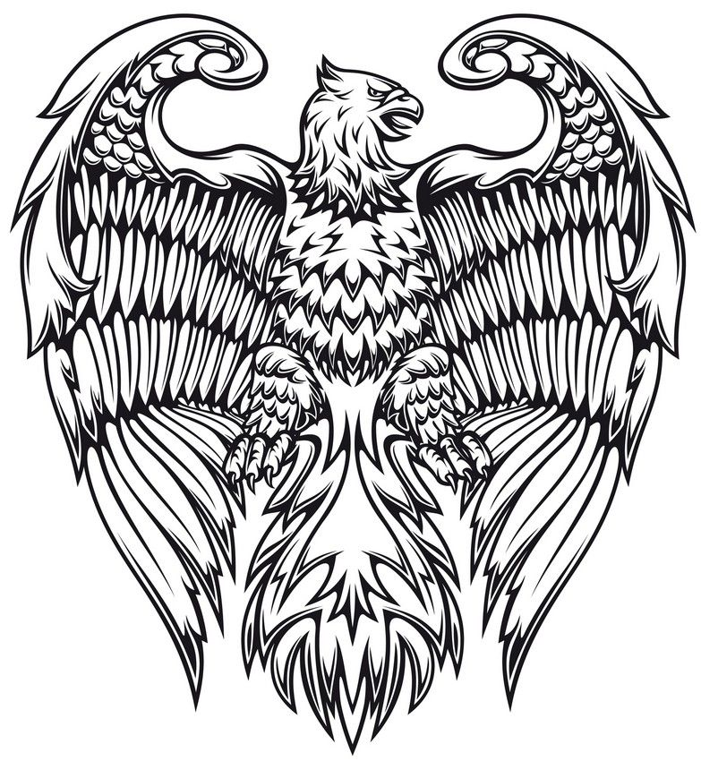 Desenho Para Colorir Animais Fantasticos Tatuagem De Grifo