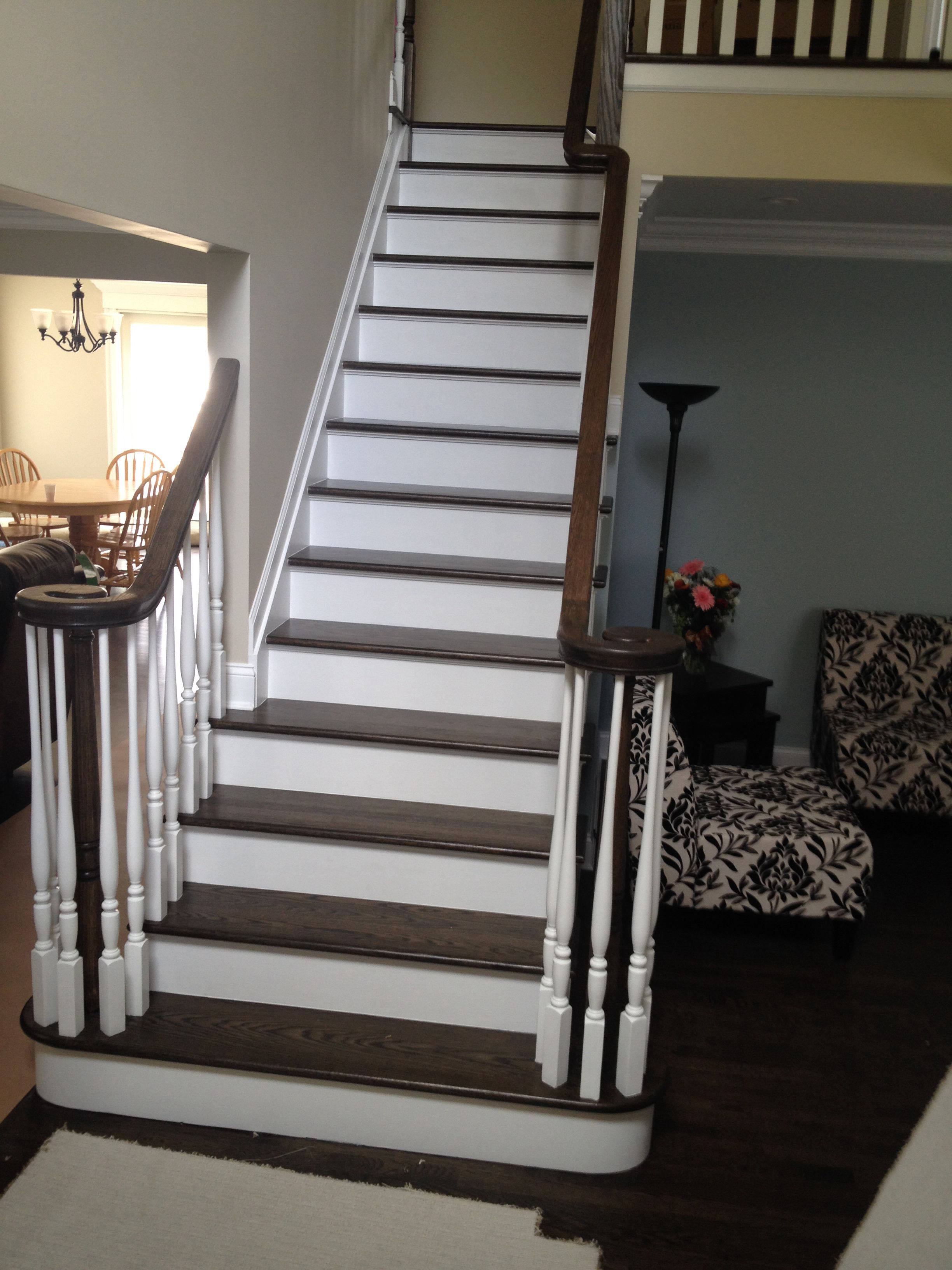 Best Staircase With Jacobean And Ebony Stain Home Decor Home 640 x 480