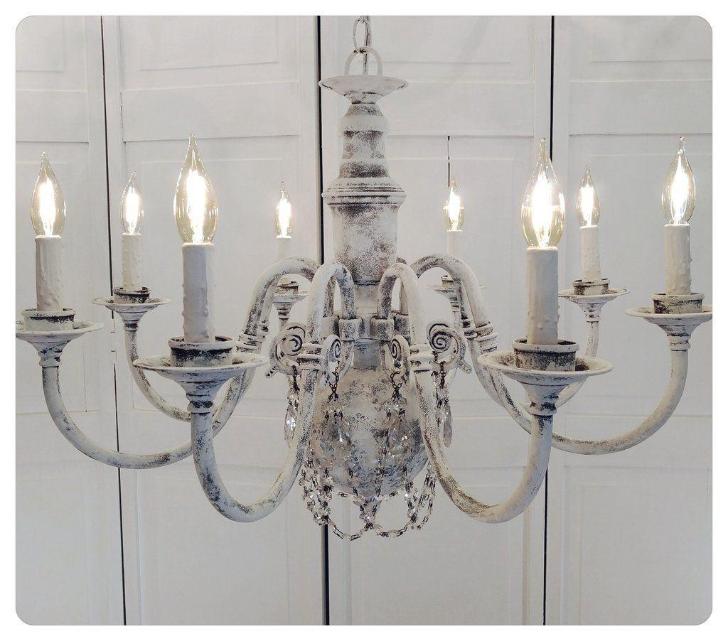 Crystal chandelier lighting shabby chic rustic whitewashed crystal chandelier lighting shabby chic rustic whitewashed arubaitofo Images