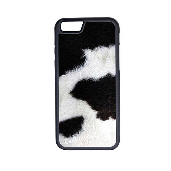 CellPowerCasesTM Cow Print iPhone 6 (4.7) Protective V1 Black Case ($13) ❤ liked on Polyvore