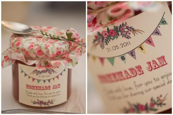 Homemade jam Made with love for you to enjoy. Thank you for sharing our special day.awesome guest favor