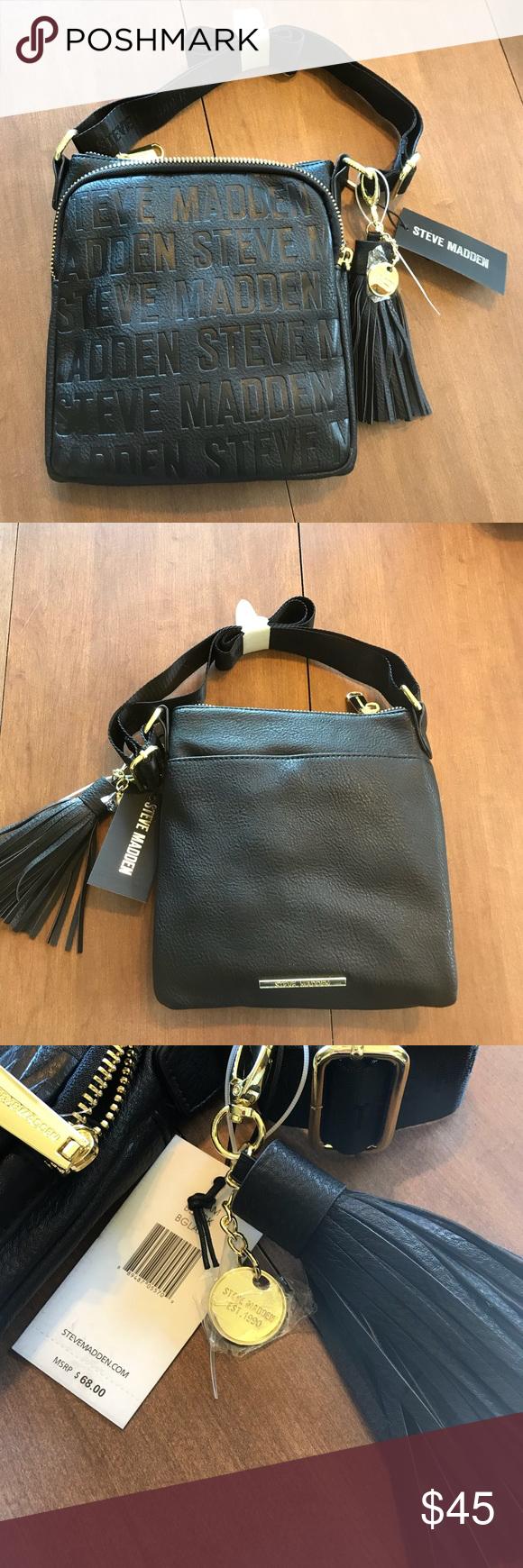 2e51e6939b5 Steve Madden Black BGLAM Handbag! 🖤 Black Steve Madden Handbag, with  Tassel! New with Tags. Love love love! 🖤 Steve Madden Bags Crossbody Bags