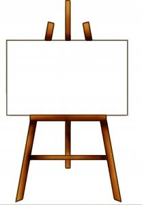 free easel clipart clipart and things pinterest clip art rh pinterest com Black and White Easel Clip Art Art Palette Clip Art