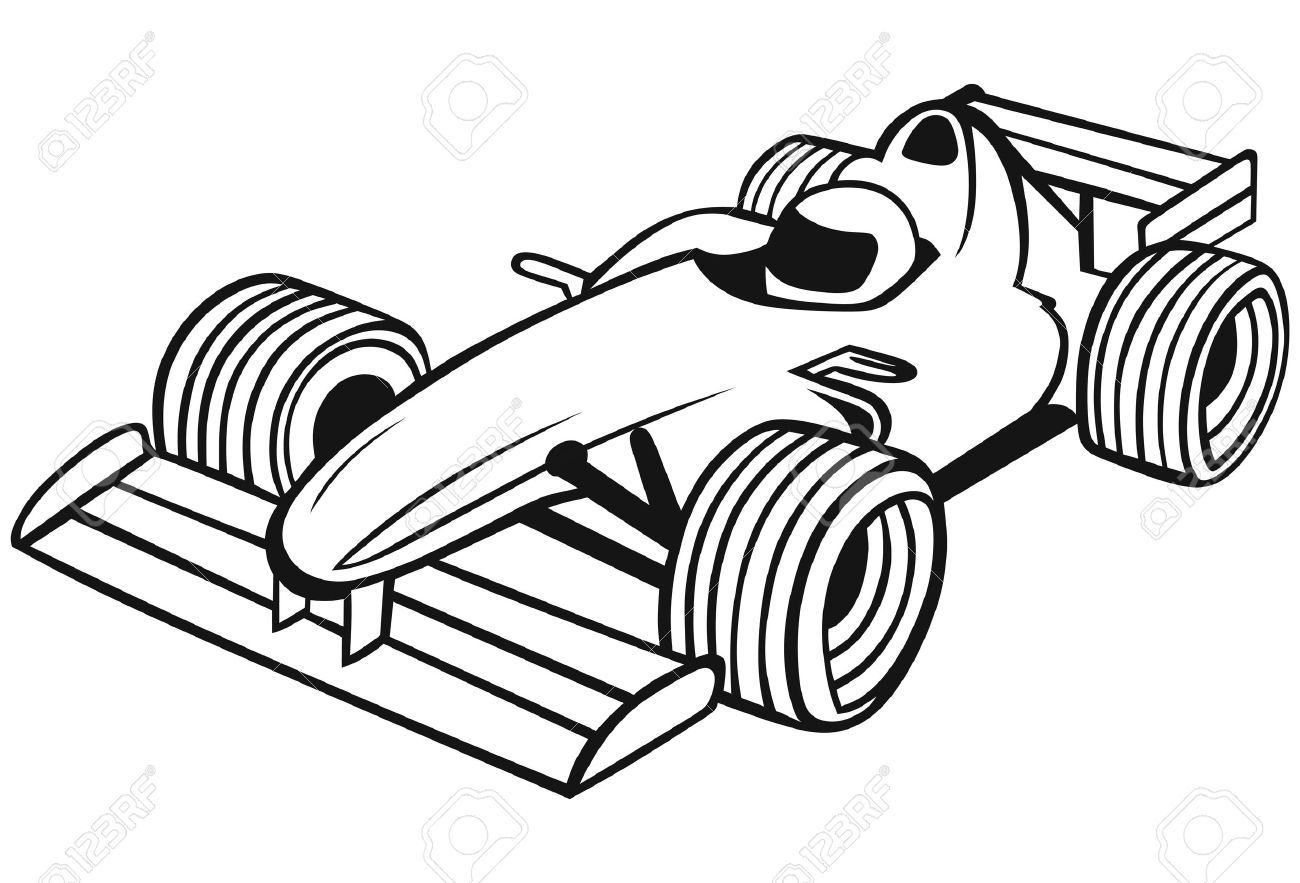Image Of Car Clipart Black And White Images 0 Race Car Drawing Books For Kids Kids Races Drawings