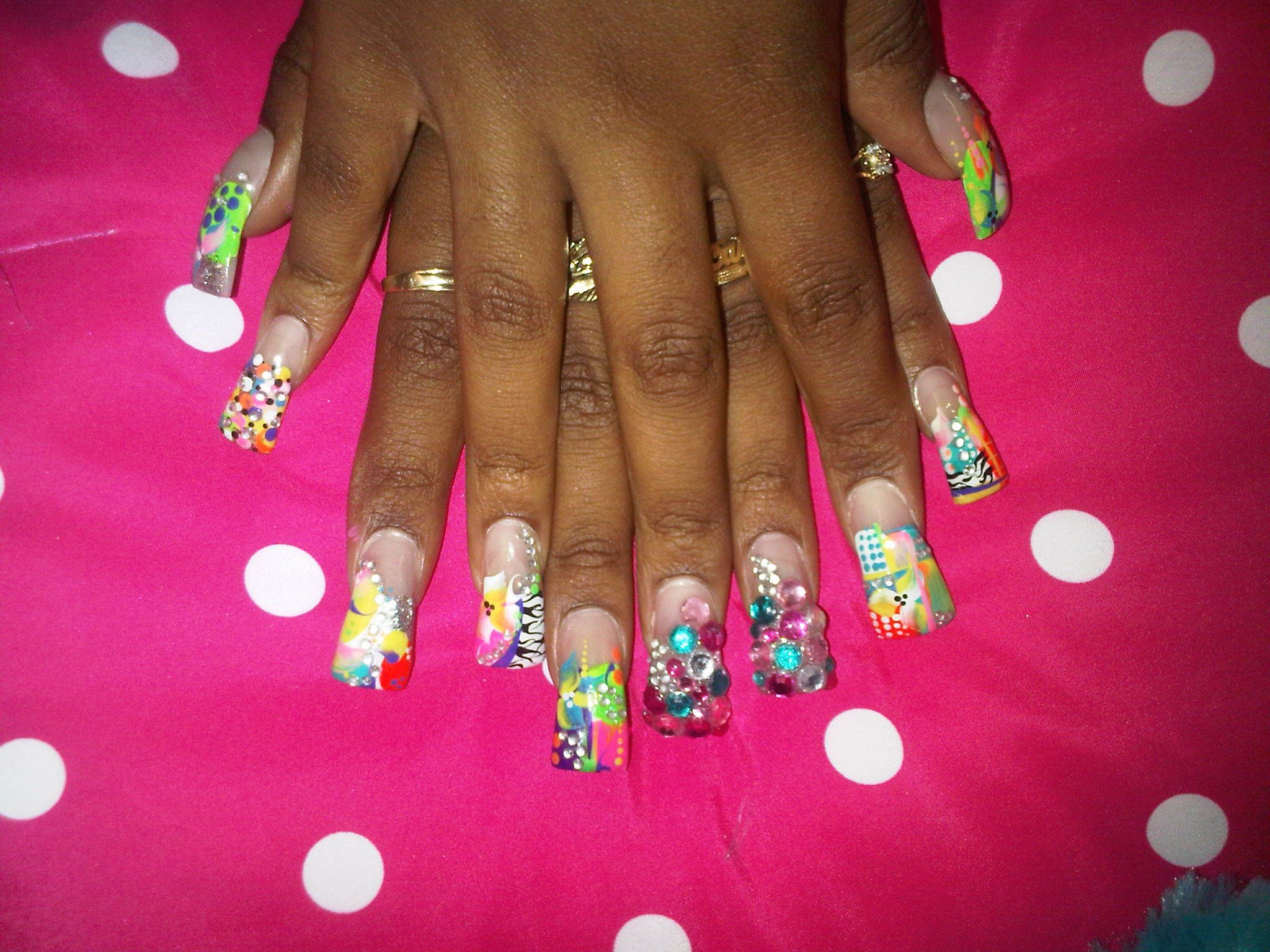 Ghetto Nail Designs Pictures Favorable Prom Nail Art Nailed It