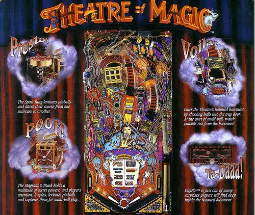 Bally Theatre of Magic Pinball at Modern Pinball NYC! The theatre awaits!