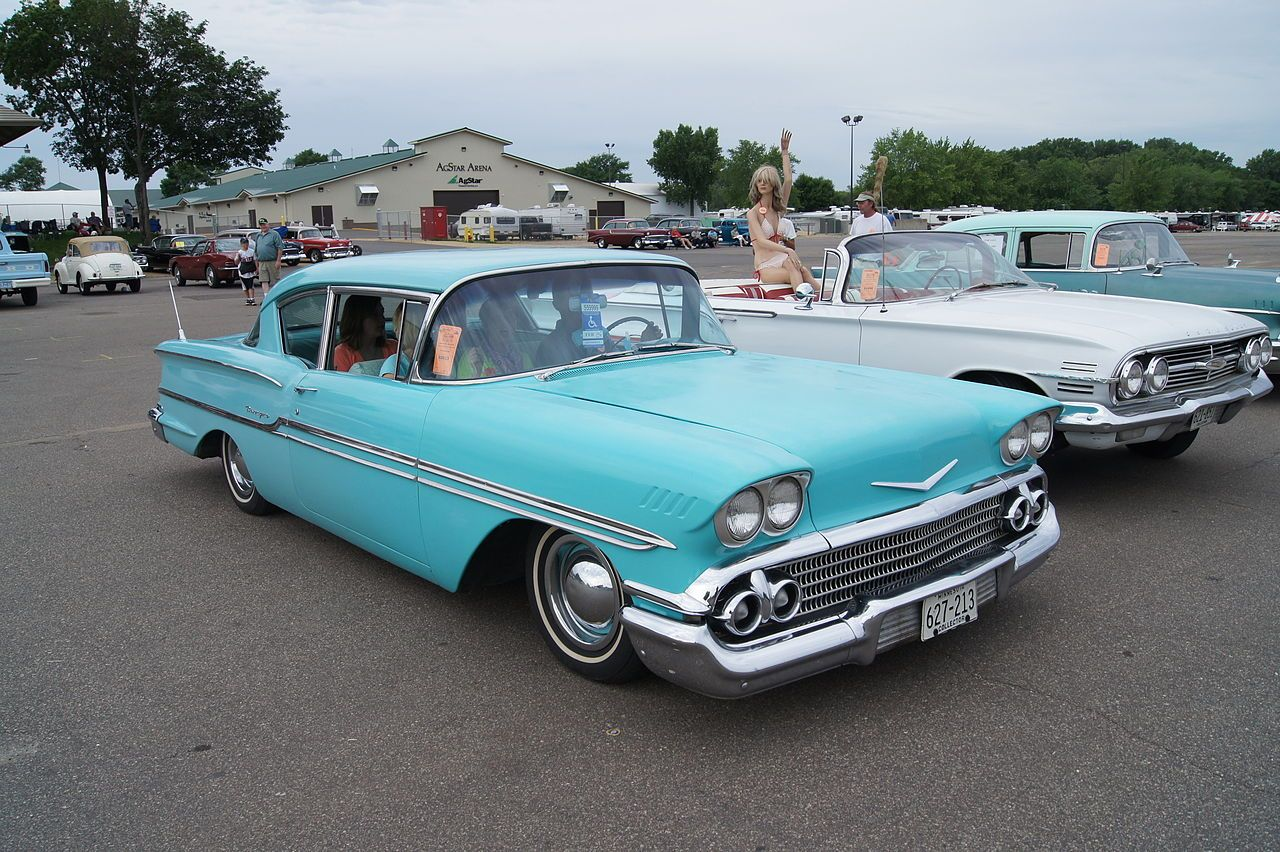 1958 Chevrolet Biscayne 3 Side Front With Images