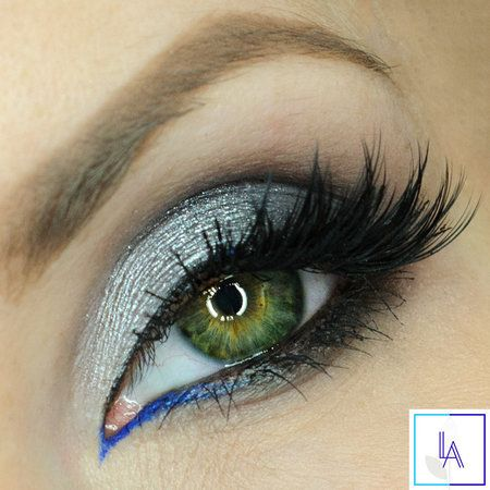 Steel, gray and cobalt accent #eyemakeup #greyshadow #eyes #inspiraiton - bellashoot.com