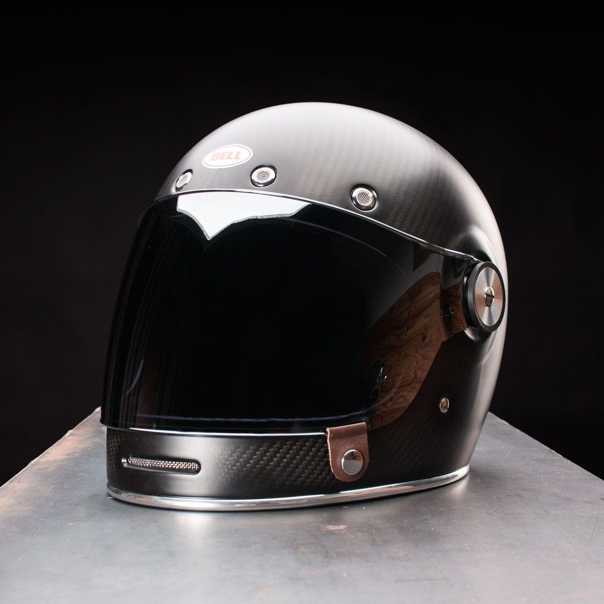 Bullitt Carbon Matte Motorcycle Helmets Vintage Cool Motorcycle Helmets Vintage Helmet
