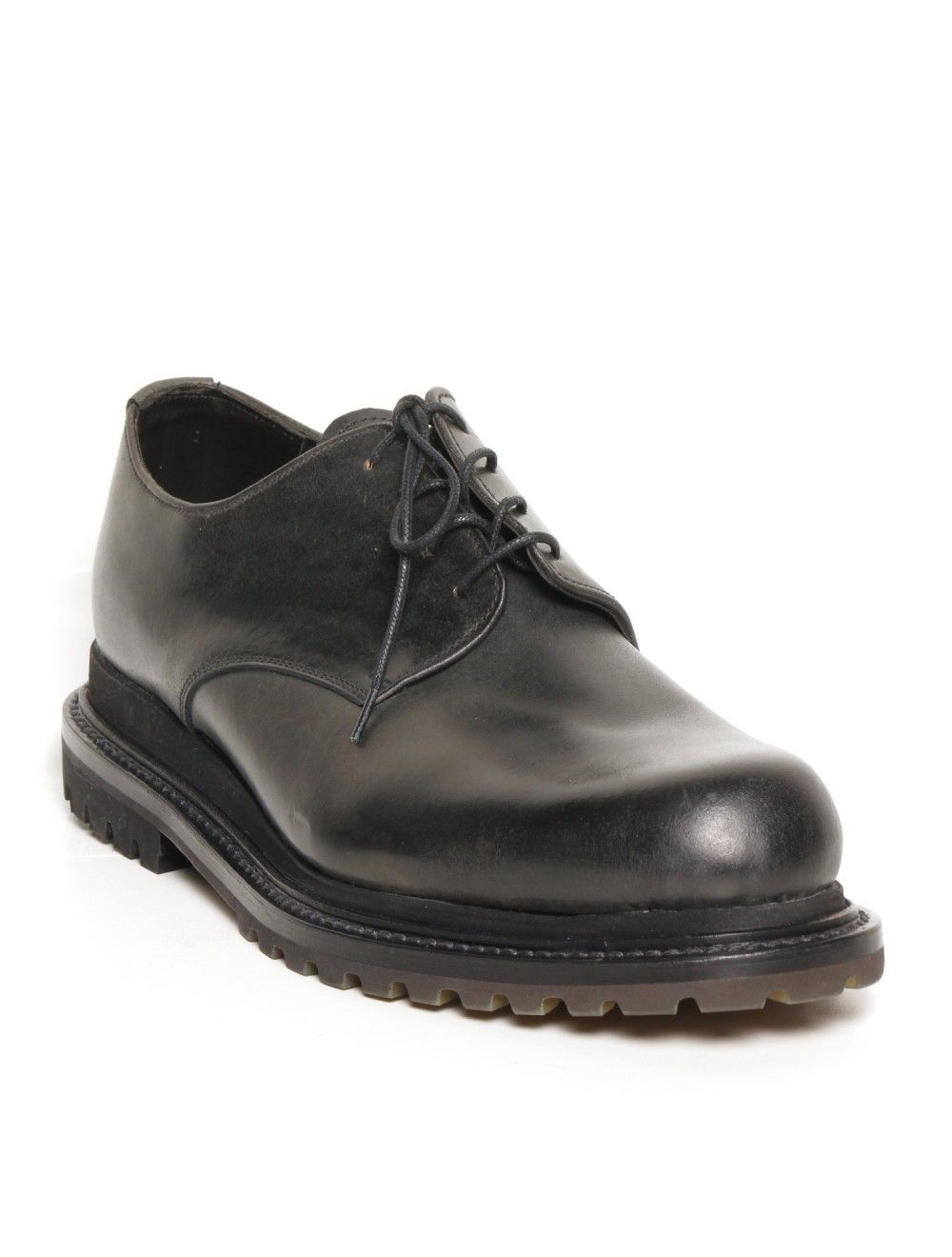 Thick Sole Men's Dress Shoes   ... oxfords in smooth black leather with 2cm