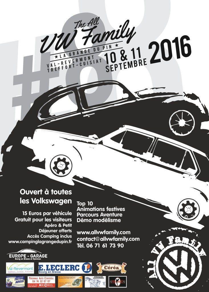 All VW Family #8 10 – 11 septembre 2016 Treffort Cuisiat, Ain, France. …