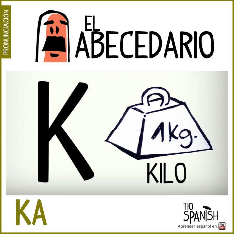 Letra K Ka Aprender El Abecedario Espanol Alfabeto Letter K