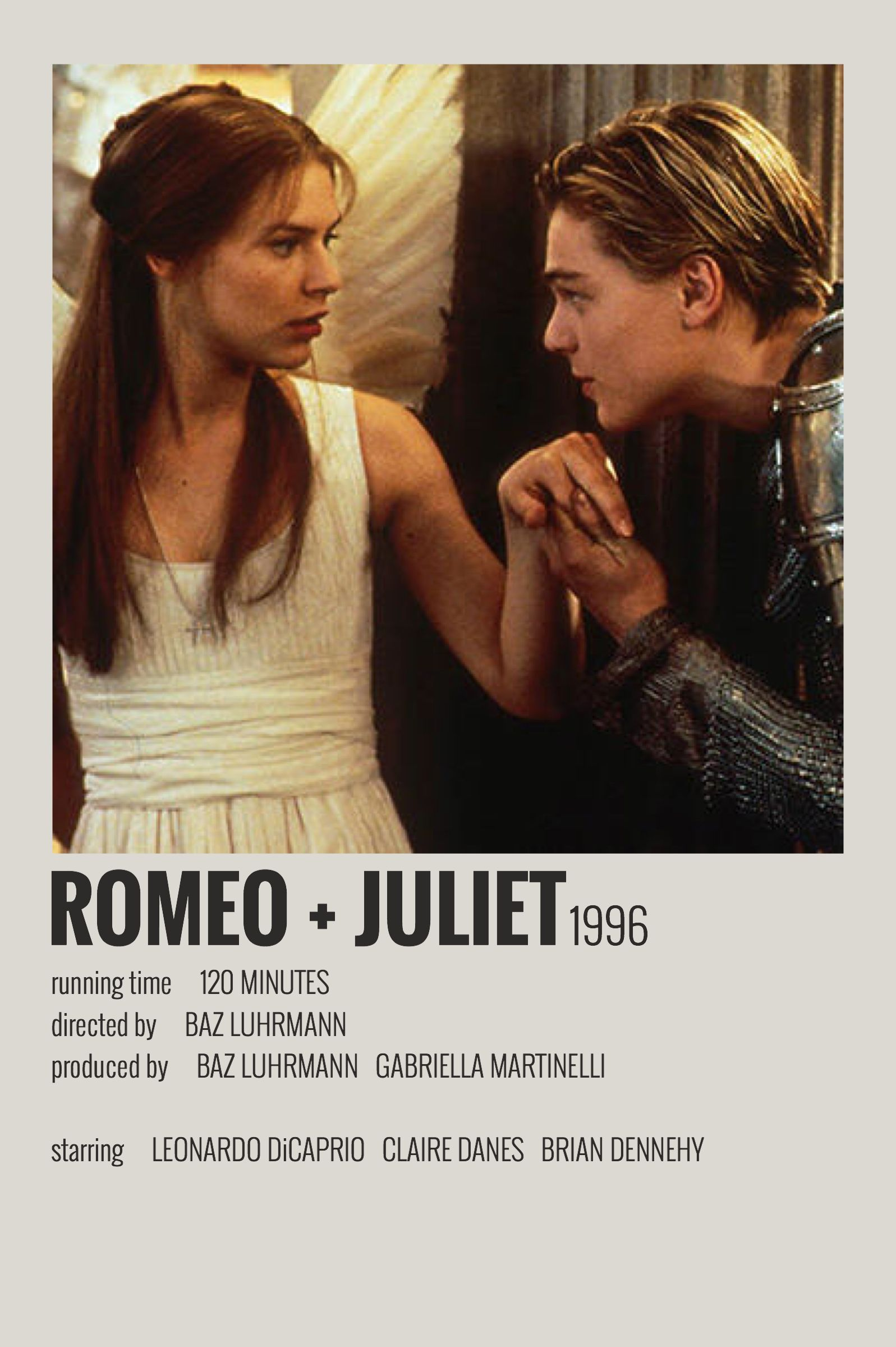 Alternative Minimalist Movie/Show Polaroid Poster - Romeo + Juliet