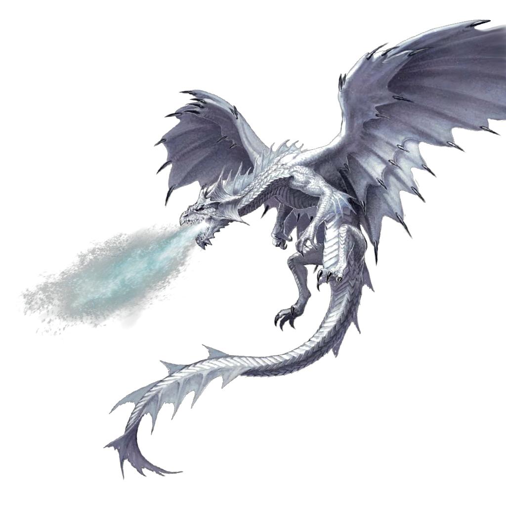 Adult White Dragon - Pathfinder PFRPG DND D&D d20 fantasy