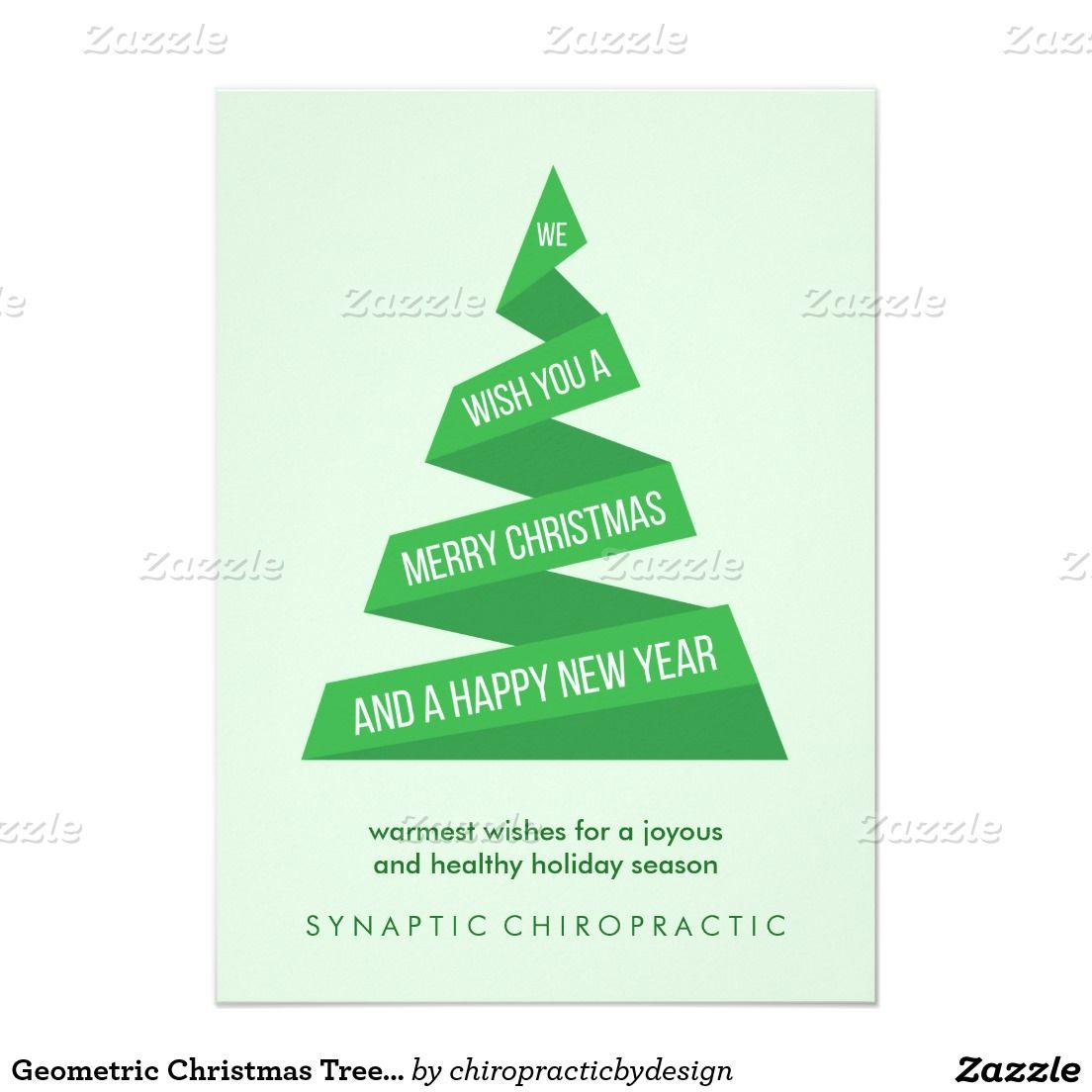 Geometric Christmas Tree Corporate Christmas Cards Corporate