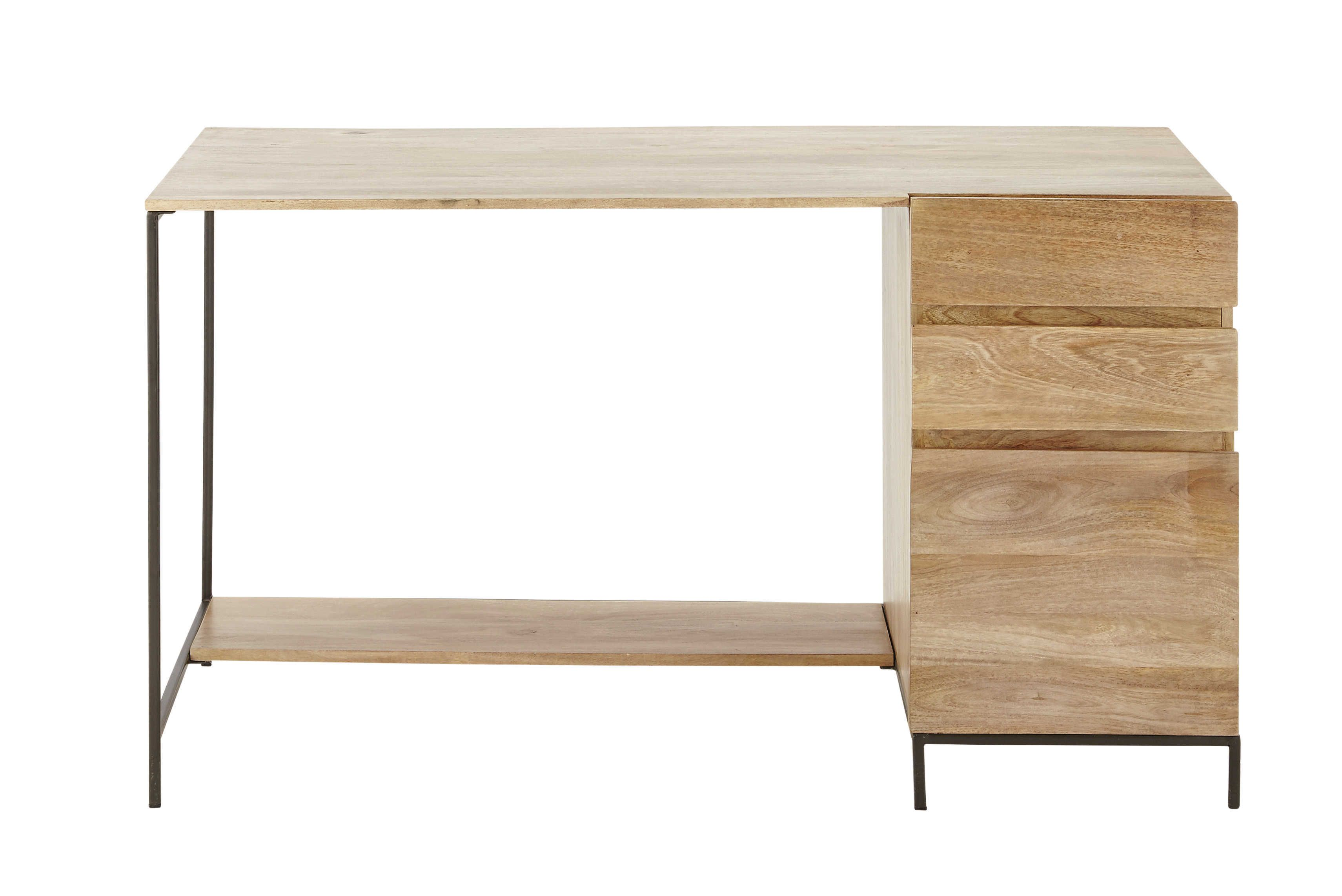 Bureau bois et mactal bureau industriel metal bois bureau