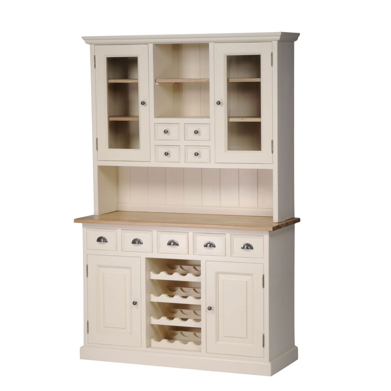 Mottisfont Painted Dresser With Built In Wine Rack Green Pine Wooden