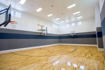 33x52 2014 Parade Home Lehi Traditional Home Gym Traditional House Basketball Room House Design