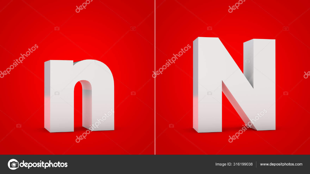 Download White 3d Alphabet Letter N Isolated On Red Background Stock Image Lettering Alphabet 3d Alphabet Red Background