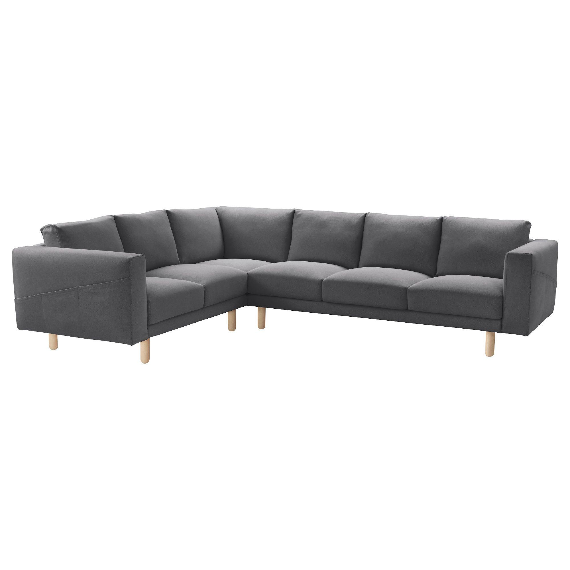 NORSBORG Corner sofa 2 3 3 2 Finnsta dark grey birch