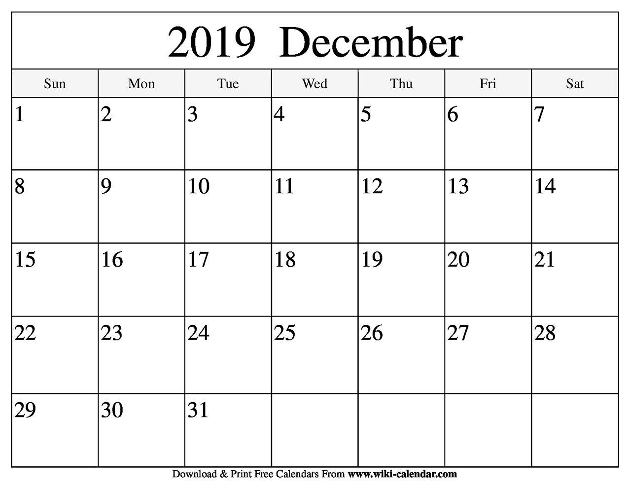 Free Printable December 2020 Calendars | Printable ...