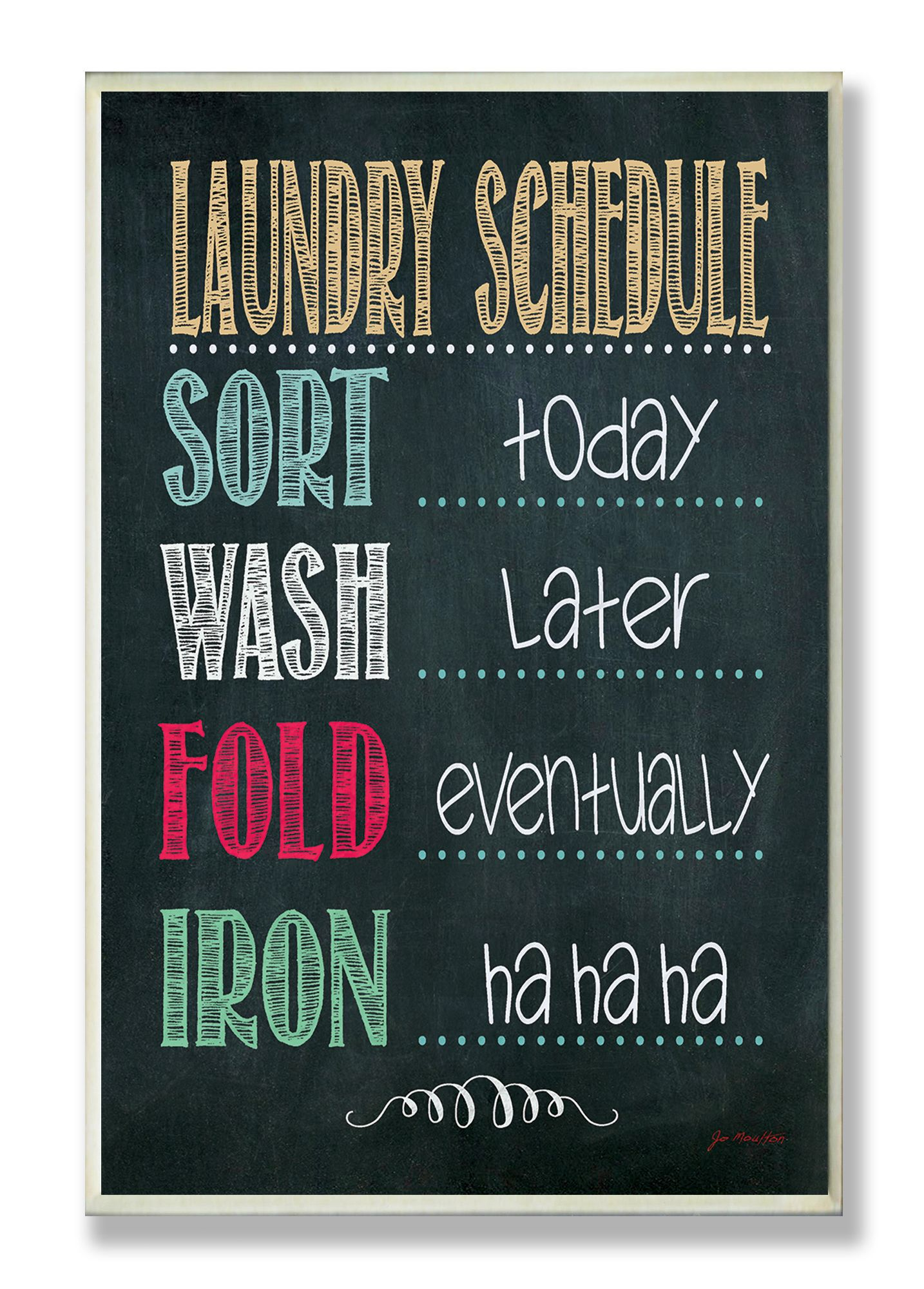 Laundry Room Wall Plaques Laundry Schedule Chalkboard Textual Wall Plaque  Shopping For