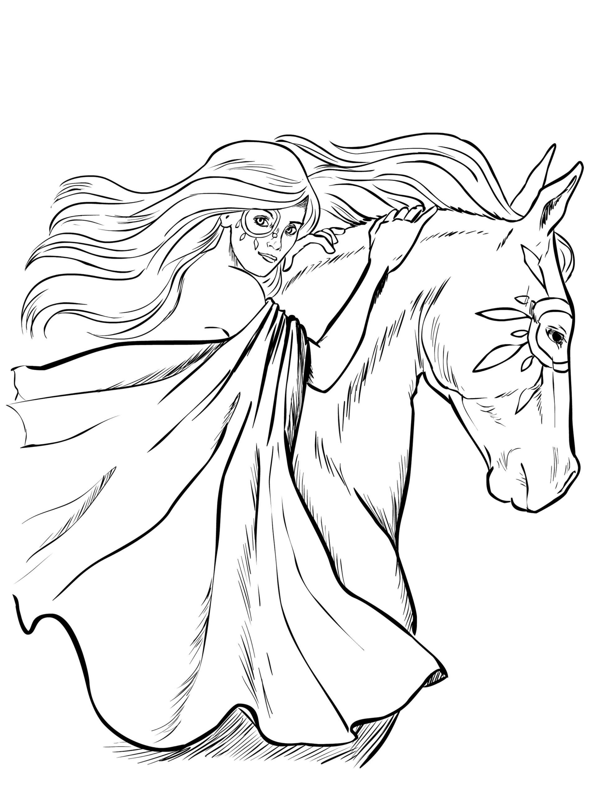 Girl Horse Coloring Page Youngandtae Com Horse Coloring Pages Horse Coloring Animal Coloring Pages