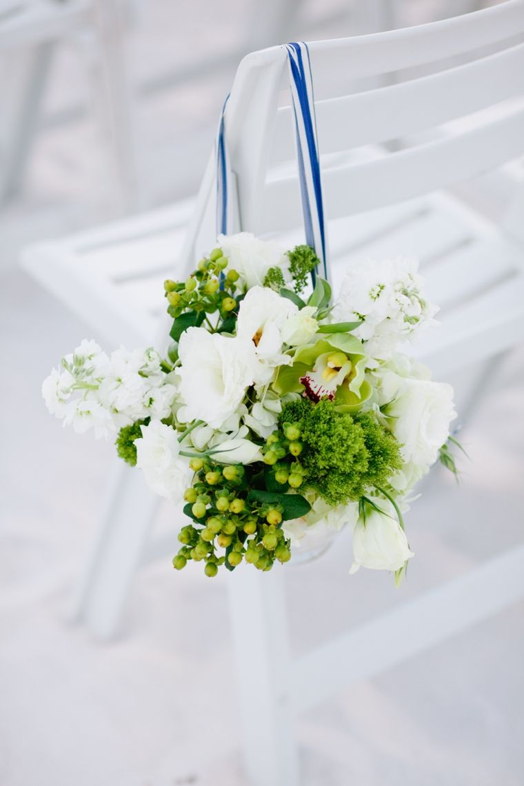 Modern Navy and Green Beach Wedding | Pinterest | Wedding, Pew ...