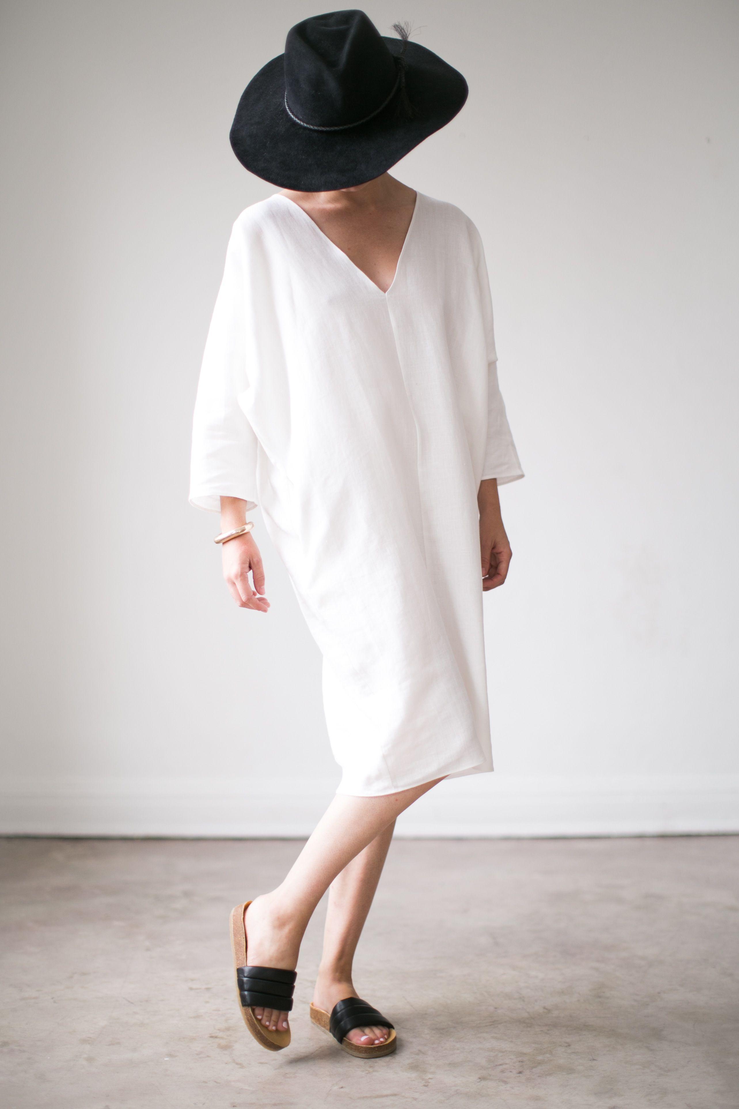ac52c69be4 Linen V-Neck Caftan   Rachel Craven Textiles
