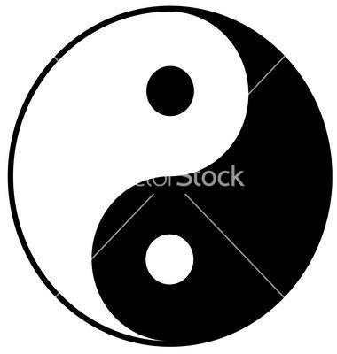yin yang symbol vector 990217 by romashechka on vectorstock rh pinterest com yin yang vectoriel gratuit yin yang vector download
