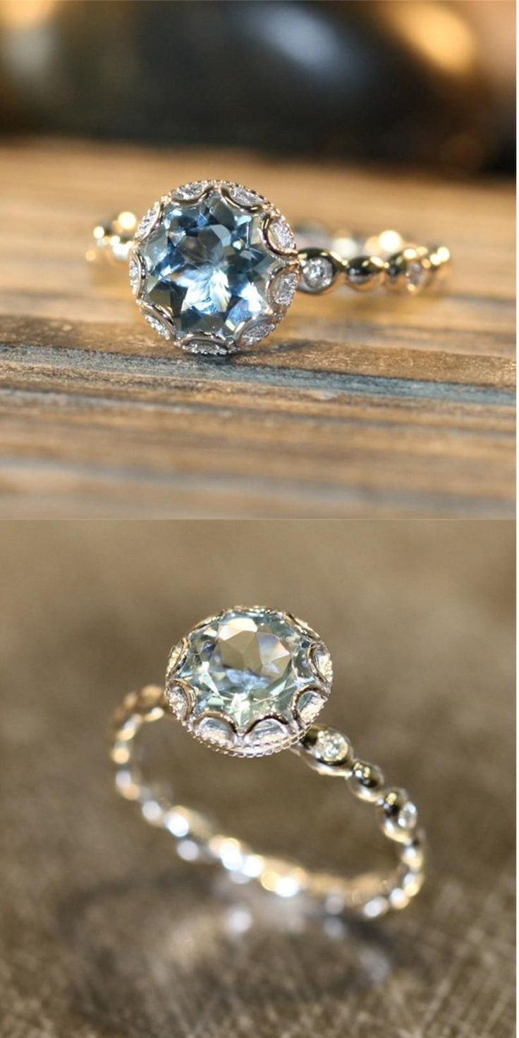 Crystal Engagement Ring in 2020 Crystal engagement rings